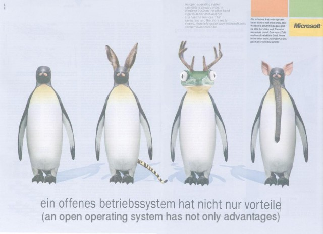 Microsofts-Werbung gegen Linux